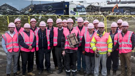 Ford Dagenham demolition team Careys plc recently raised nearly �2,000 for Breast Cancer Awareness