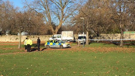 """Police are investigating an """"unexplained death"""" near St Margaret's Church in Barking Picture: Ann-Ma"""