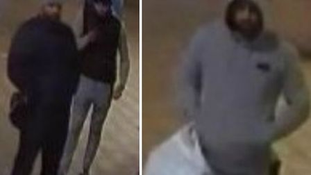 These three men are sought by police in connection with a robbery on a jewellery shop robbery in Lon