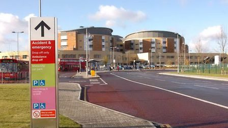 BHRUT failed to meet the government's A&E waiting times target for December. Pictured: Queen's Hospi