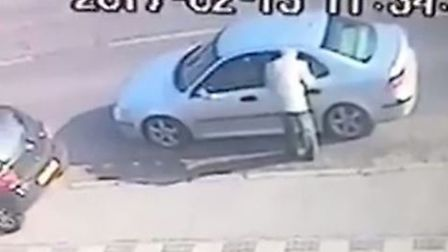 The entire incident was captrued on CCTV.