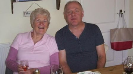 Colin Roger with aunt Carole Ginger at a dinner party