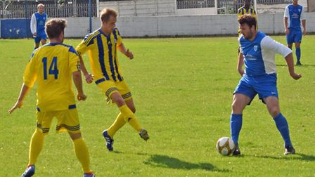 Glen Golby (right) in action for Barking earlier in the season (pic: Terry Gilbert)