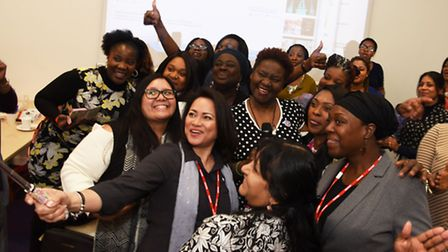 More than 40 women attended a networking event at the Barking Learning Centre.