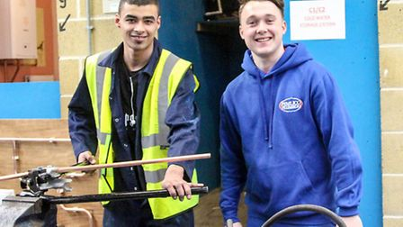 20 year old Nathan Wincott from Hainault, a Plumbing Apprentice with grandson of Pimlico Plumbers fo
