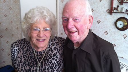 Danny and his wife Ruby in the living room of their Dagenham home where they have lived for the past