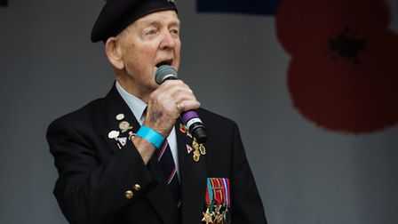 """Danny singing to thousands at the 2015 Royal British Legion-organised event """"Silence in the Square"""""""