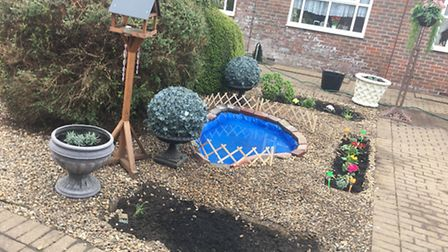 New pond and garden at the care home