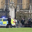 Police outside the Palace of Westminster, London, following the terrorist attack. PICTURE: Victoria