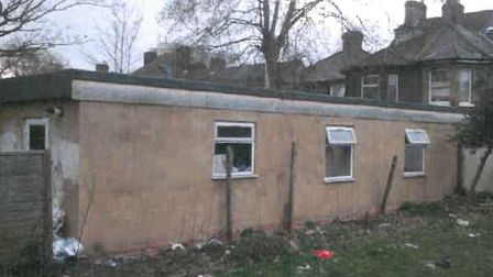 The illegal outhouse in Longbridge Road. Picture: BDCOUNCIL