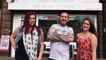 Tattoo artist Kevin Haggis has opened a unisex hair stylist with attached tattoo parlour. Pictured w