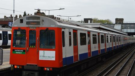 A D-stock train with a special commemorative sticker on (Picture: James Sadler/@explorethetube)