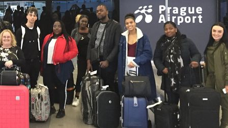 Thirteen business students from the Technical Skills Academy in Barking got the chance to practice t
