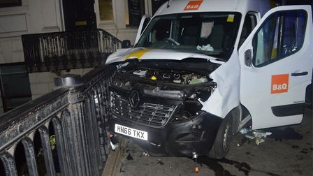 The white van used by the terrorists. Picture: MET POLICE