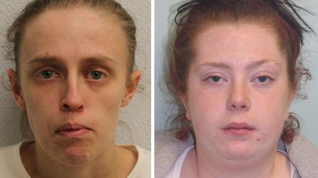 Chelsea Gibson (left) and Kelly Baker will be sentenced on July 3. Pictures: MET POLICE