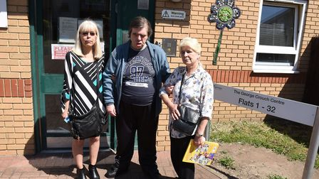 The George Crouch Centre in Dagenham has been threatened with closure. Carol Phillips on the right w