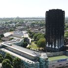 Grenfell Tower in west London after a fire engulfed the 24-storey building. PICTURE: David Mirzoeff/