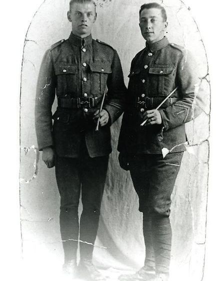 John Perren (right) wrote a memoir during the First World War which is now held by Valence House Mus