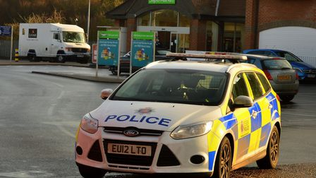 The scene of the armed robbery at Asda in Witham. Picture: Chris Myers
