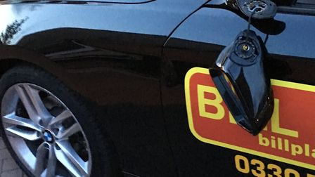 Children damaged a learner driver car. Picture Butt