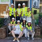 Female construction apprentices from Barking and Dagenham College redecorated Lewisham Academy Pictu