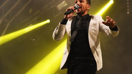 Peter Andre performing at the Now That's a Festival