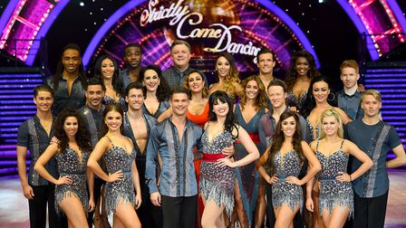 Some of the stars of 2016's Strictly Come Dancing. Some of their costumes will feature in a dance sh