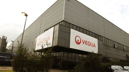 The opening of the new plastics facility at the Veolia plant in Dagenham.