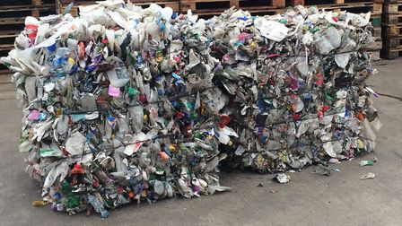 Bottles ready to be recycled