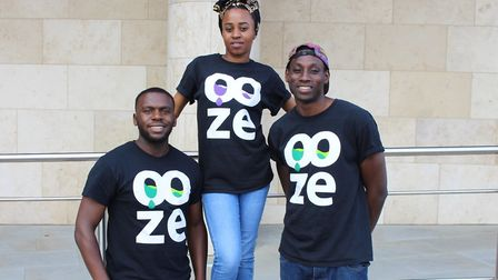 The Ooze team. Picture: University of East London