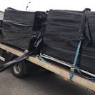 This is a lorry that had an insecure load – the middle pallet had no strapping keeping it to the HGV