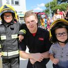 Fire Cadet Kyle Orton (centre) with youngsters at last year's Dagenham Fire Station open day (Pictur
