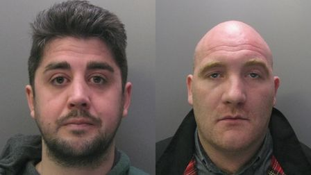 Ross Bright, 30 and Alex Callcut, 31,both of Highfield Road, Collier Row, have been jailed for the