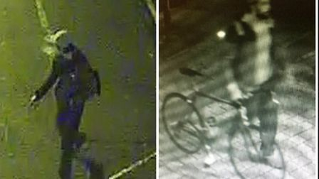 Police would like to speak to these two men. Pic credit: Met Police