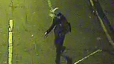 CCTV footage of a suspect. Picture: Met