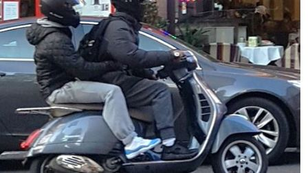 A photographer captured the moped crooks in action. Picture: CPS