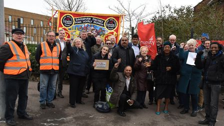 Unite campaigners fighting to save Dagenham Jobcentre from closure. Picture: Ken Mears