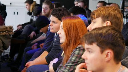 Barking and Dagenham College students take part in a video games masterclass. Picture: Wow Marketing