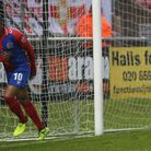 Daggers Morgan Ferrier scored the first goal for his side (Pic: David Simpson/TGS Photo)