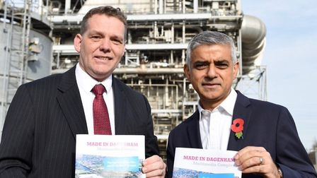 Mayor of London Sadiq Khan (right) with Barking and Dagenham Council leader Darren Rodwell (Picture: