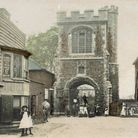 The Curfew Tower, with old buildings on what is now open land. Picture: Michael Foley
