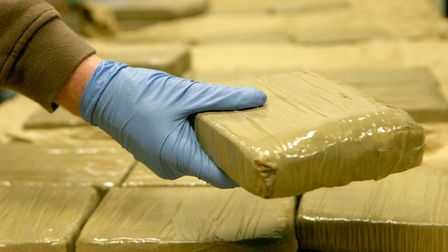 A seizure of heroin. Picture: PA
