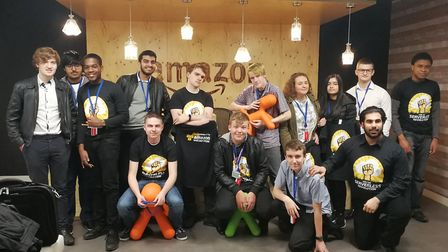Barking and Dagenham College students worked with Amazon Web Services to create digital apps earlier
