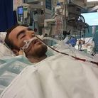 Tyler Dawson critically ill in hospital after being stabbed. Picture: Supplied by Tyler's family