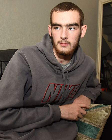 Tyler suffered brain damage and his mum says his personality has completely changed. Picture: Ken Me