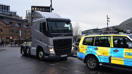 Unmarked lorry cab fitted with cameras. Picture: Metropolitan Police