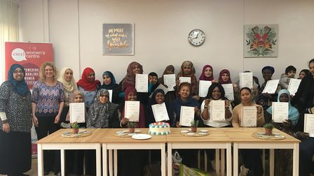 The graduates and teachers at the Excel Women's Centre in Barking
