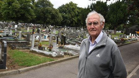 Dave Rose is campaigning for a war memorial to be built at Eastbrookend Cemetery. Picture: Ken Mears