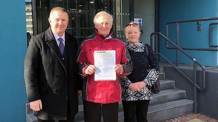 Campaigners handing in their planning application to the council. Picture: Peter Harris