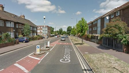 The attack took place in Gascoigne Road. Picture: Google
